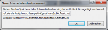 Kalender in Outlook einbinden